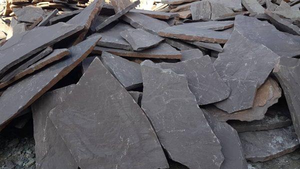 سنگ ورقه ای دماوند قهوه ای پررنگ هر متر مربع 115 هزار تومان